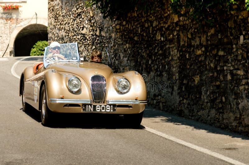 Jaguar XK120 à Bergame Grand prix historique 2017 photographie stock libre de droits