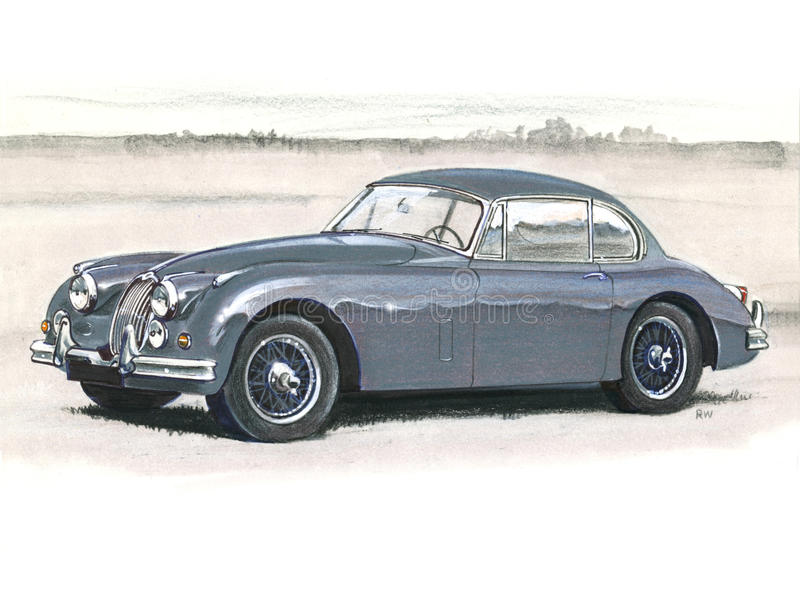 Jaguar XK150 vektor illustrationer