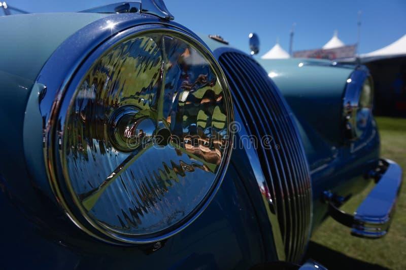 Jaguar XK120 Grille zdjęcia stock