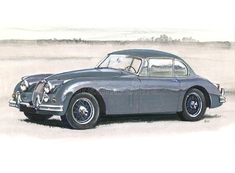 Jaguar XK150 vector illustration