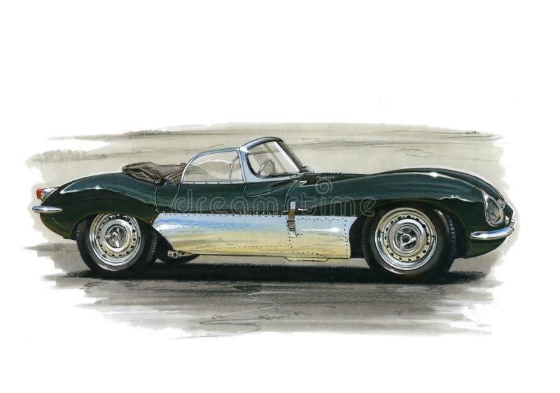 Jaguar XK SS stock illustration