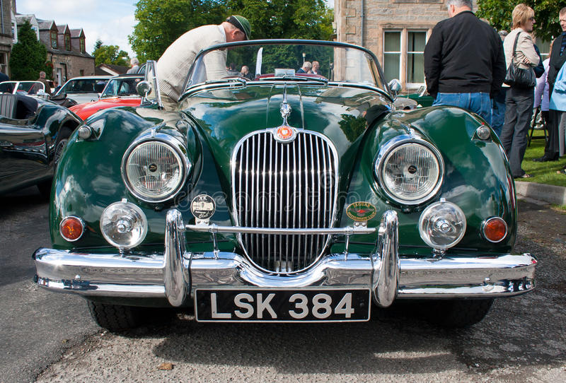 Jaguar XK150 front view royalty free stock photography