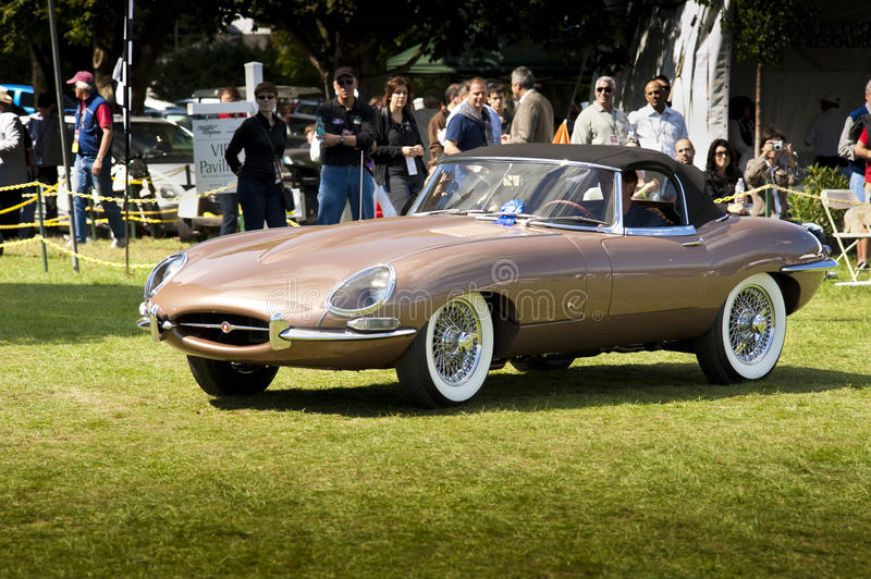 Jaguar XKE coupe 1961 royalty free stock image