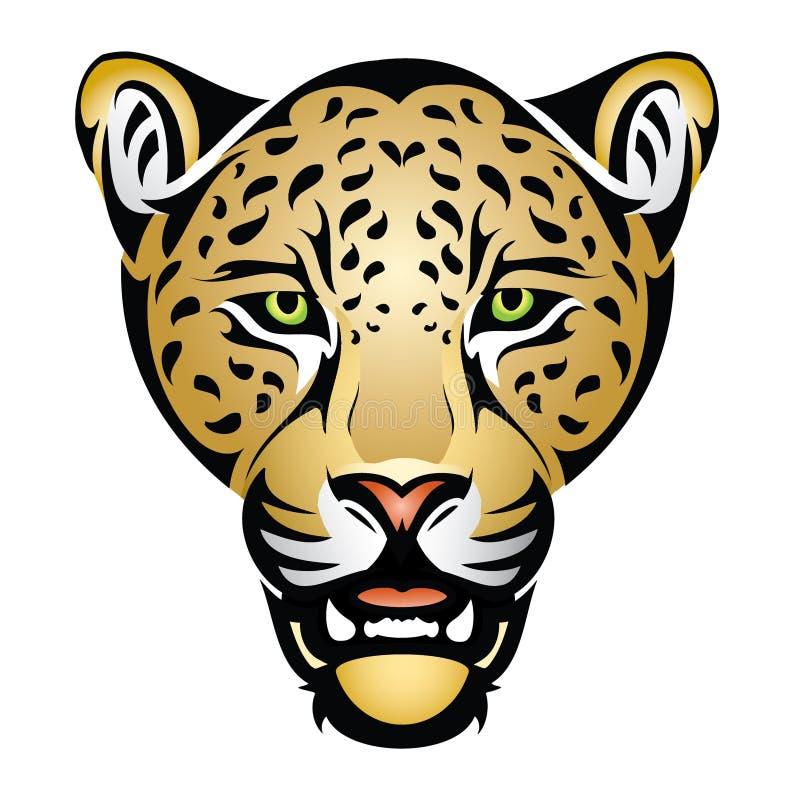 Jaguarhuvud royaltyfri illustrationer