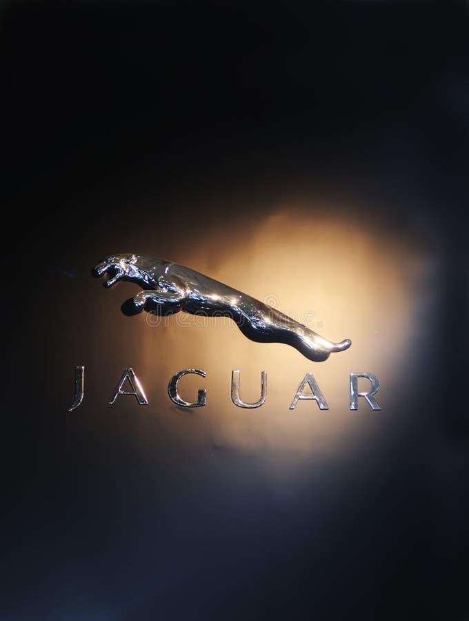 jaguarlogo royaltyfri fotografi