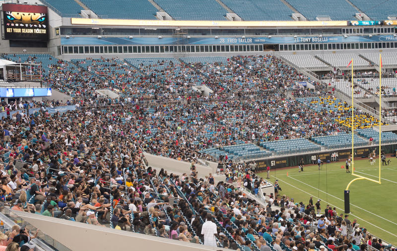 Jaguars NFL game at Everbank field stadium royalty free stock photography