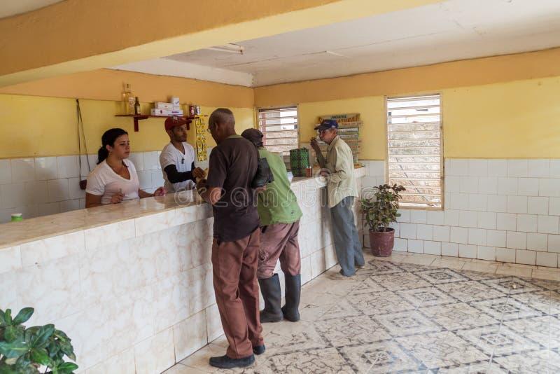 JAGUEY GRANDE, CUBA - FEB 16, 2016: Interior of a small shop in Jaguey Grande town, Cu stock photos