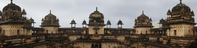 Jahangir Mahal-maharadjapaleis, Orchha, India royalty-vrije stock foto