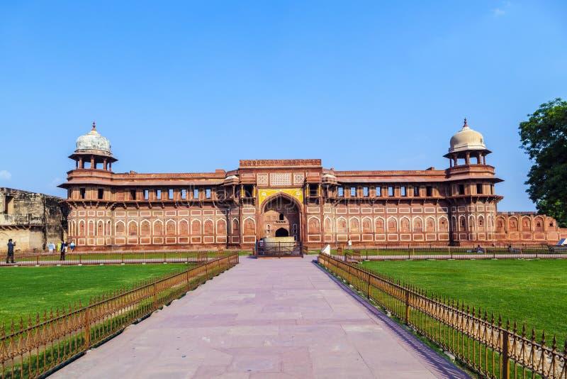 Jahangiri Mahal στο κόκκινο οχυρό Agra στοκ φωτογραφίες