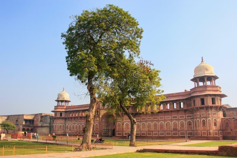 Jahangiri Mahal dans le fort d'Âgrâ, uttar pradesh, Inde photos stock