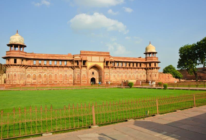 Jahangiri Mahal dans le fort d'Agra image stock