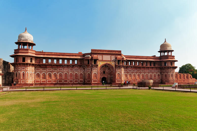 Jahangiri Mahal dans le fort d'Agra image libre de droits