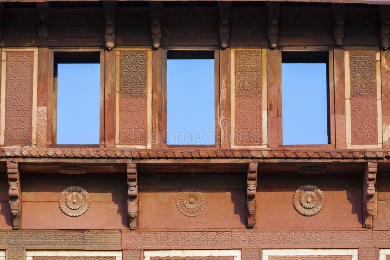 Jahangiri Mahal dans le fort rouge à Âgrâ photographie stock libre de droits