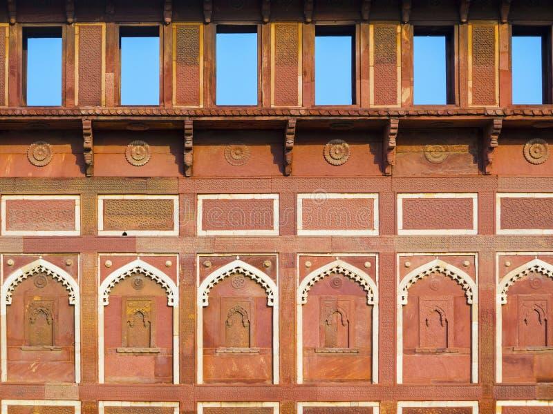 Jahangiri Mahal dans le fort rouge photographie stock