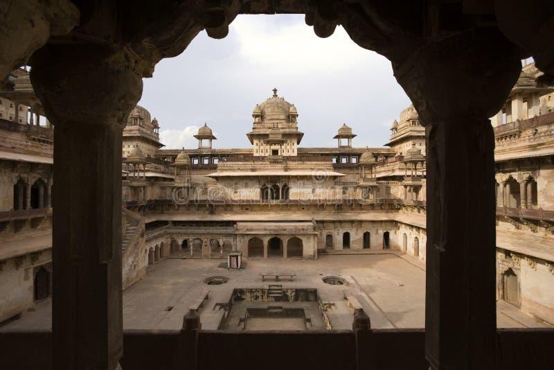 Jahangiri Mahal - Orchha - Indien royaltyfri bild