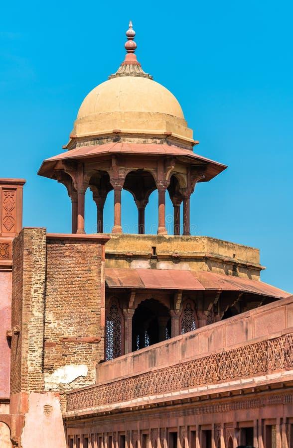Jahangiri Mahal, un palais au fort d'Âgrâ Site de patrimoine mondial de l'UNESCO dans l'Inde photos libres de droits