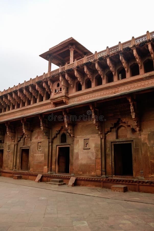 Jahangiri Mahal, un palais au fort d'Âgrâ Site de patrimoine mondial de l'UNESCO dans Uttar Pradesh photos stock