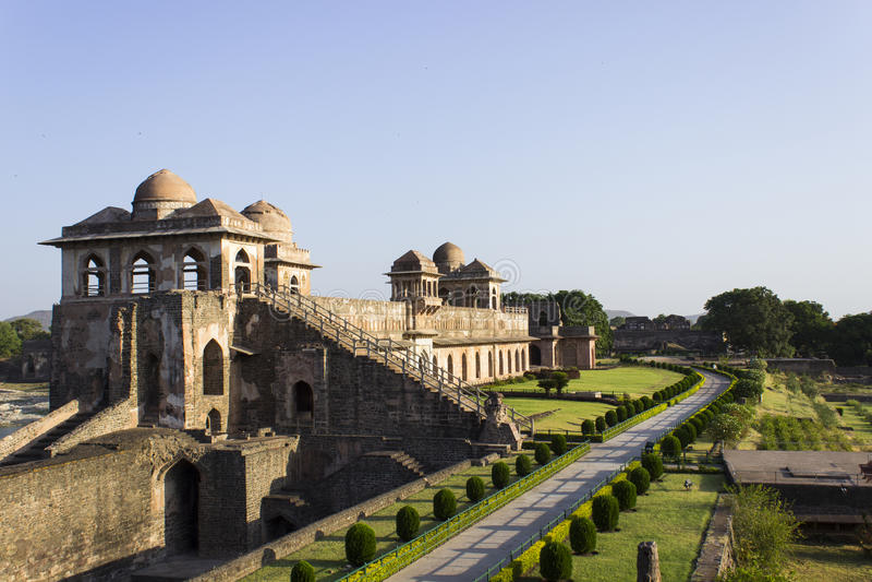 Jahaz Mahal royaltyfria bilder