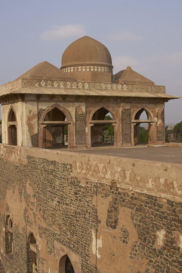 Jahaz Mahal in Mandu, India. Ancient islamic royal palace of Jahaz Mahal. Mandu, Madhya Pradesh, India. 16th Century AD royalty free stock images
