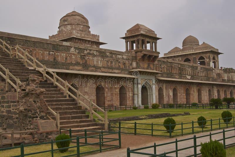 Jahaz Mahal in Mandu, India. Ancient islamic royal palace of Jahaz Mahal. Mandu, Madhya Pradesh, India. 16th Century AD royalty free stock image
