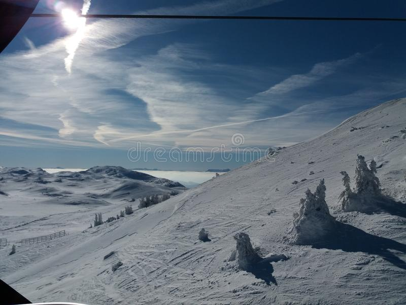 Jahorina g?ra - o?rodek narciarski zdjęcia stock