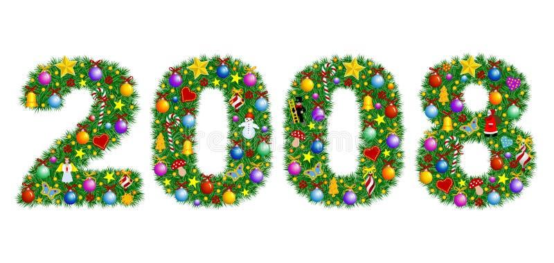 Jahr 2008 - Weihnachten vektor abbildung