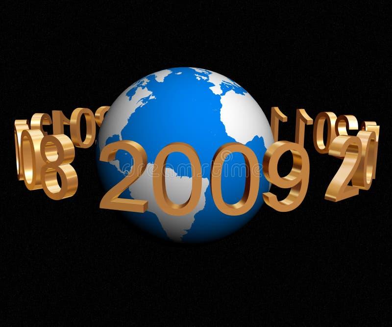Jahr 2009 vektor abbildung