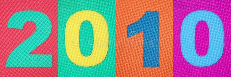 Jahr 2010 lizenzfreies stockfoto