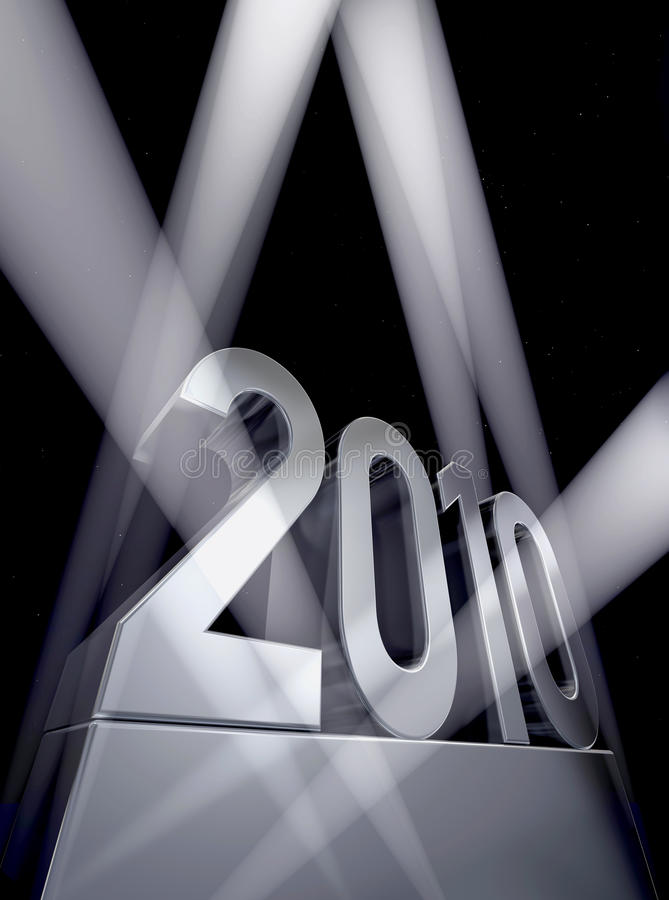 Jahr 2010 lizenzfreie abbildung