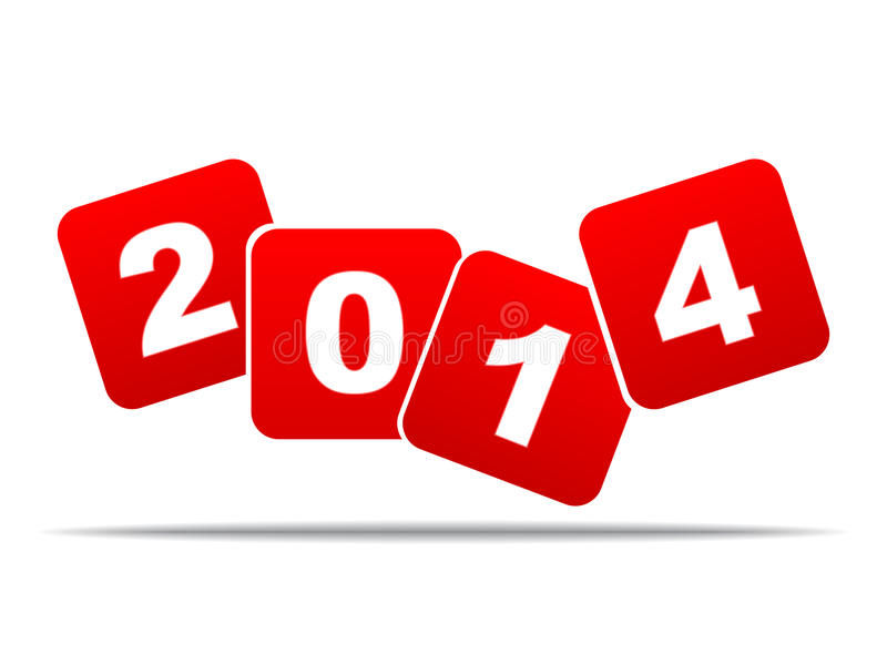 Jahr 2014 stockbild