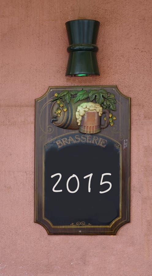 Jahr 2015 auf einer Tafel lizenzfreie stockbilder