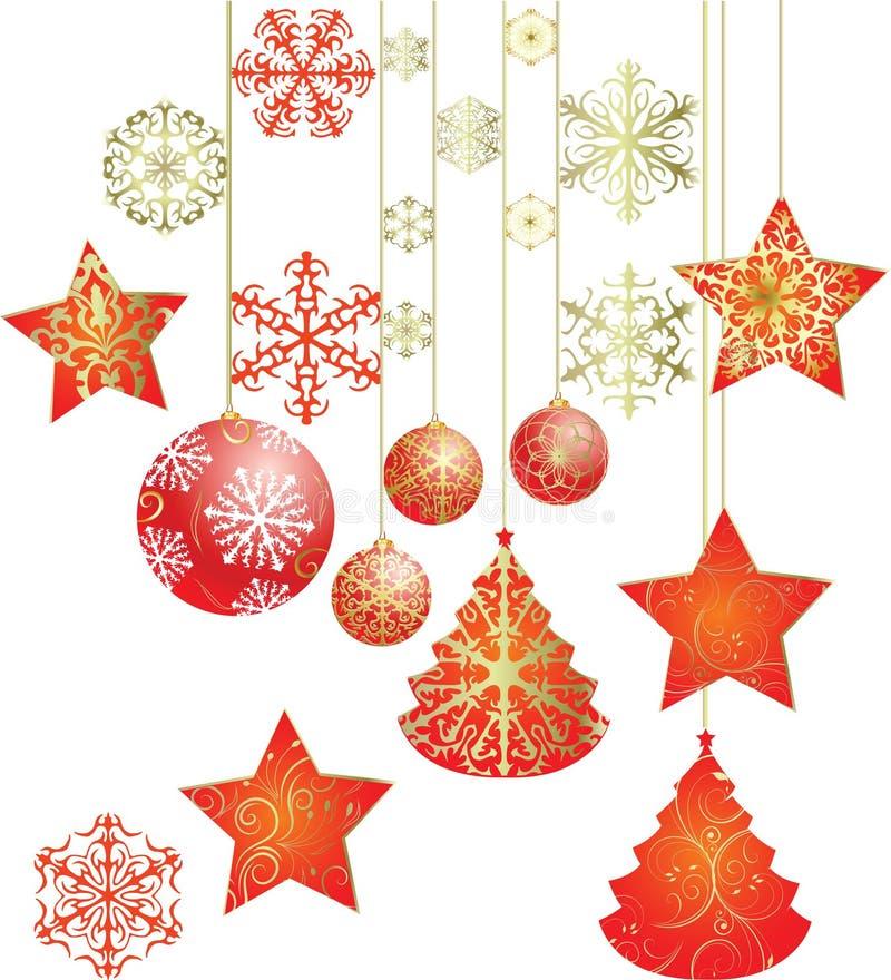 Jahr der frohen Weihnachten und des happynew lizenzfreie abbildung