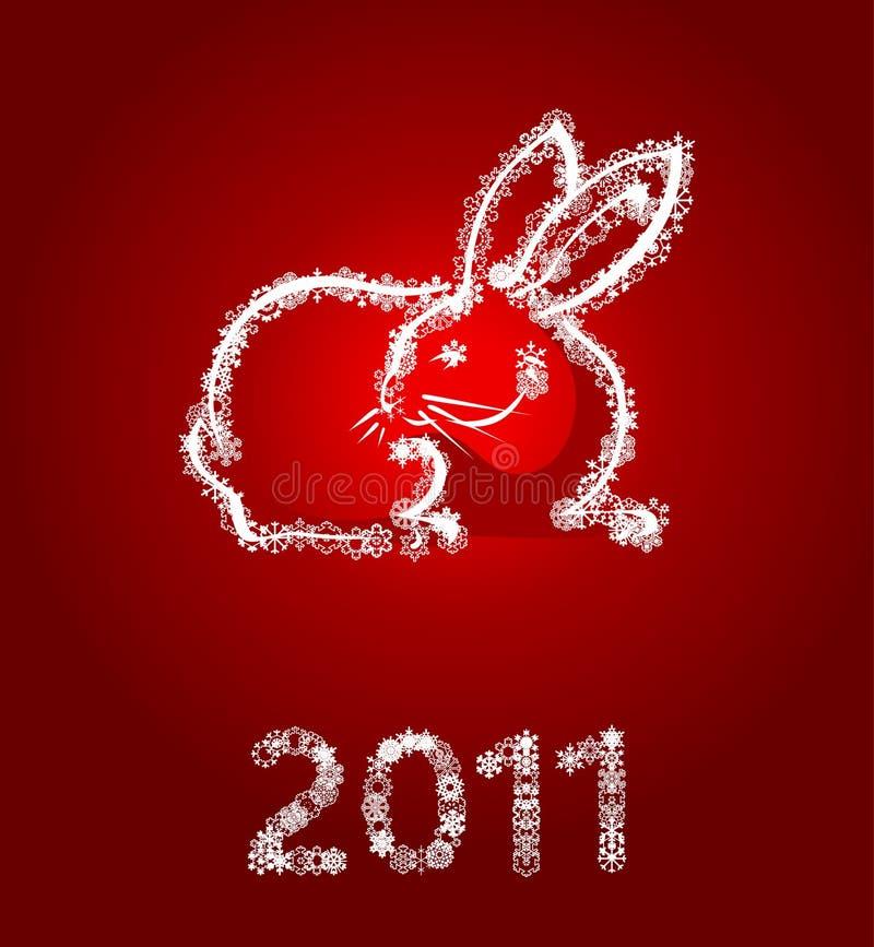 Jahr eines Kaninchens vektor abbildung
