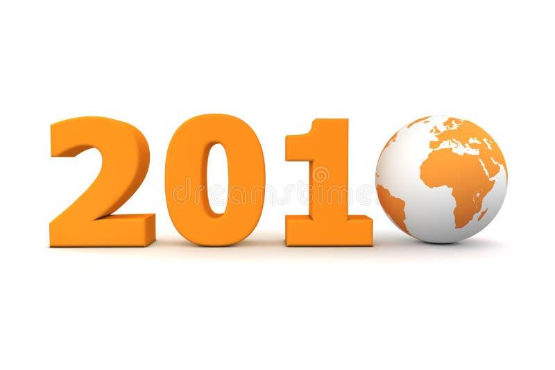 Jahr-Weltorange 2010 lizenzfreie abbildung