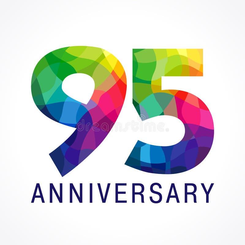 95 Jahre altes Buntglas farbige Firmenzeichen lizenzfreie abbildung