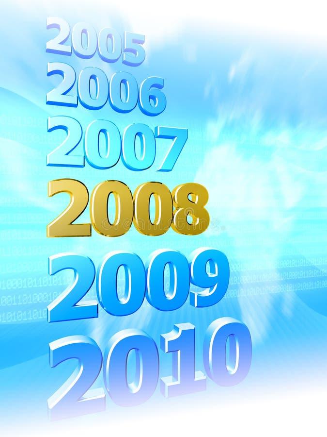 Jahre in der Zusammenfassung stock abbildung