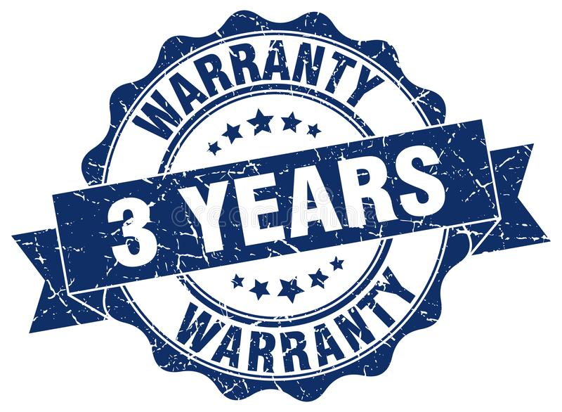 3 Jahre Garantiestempel stock abbildung