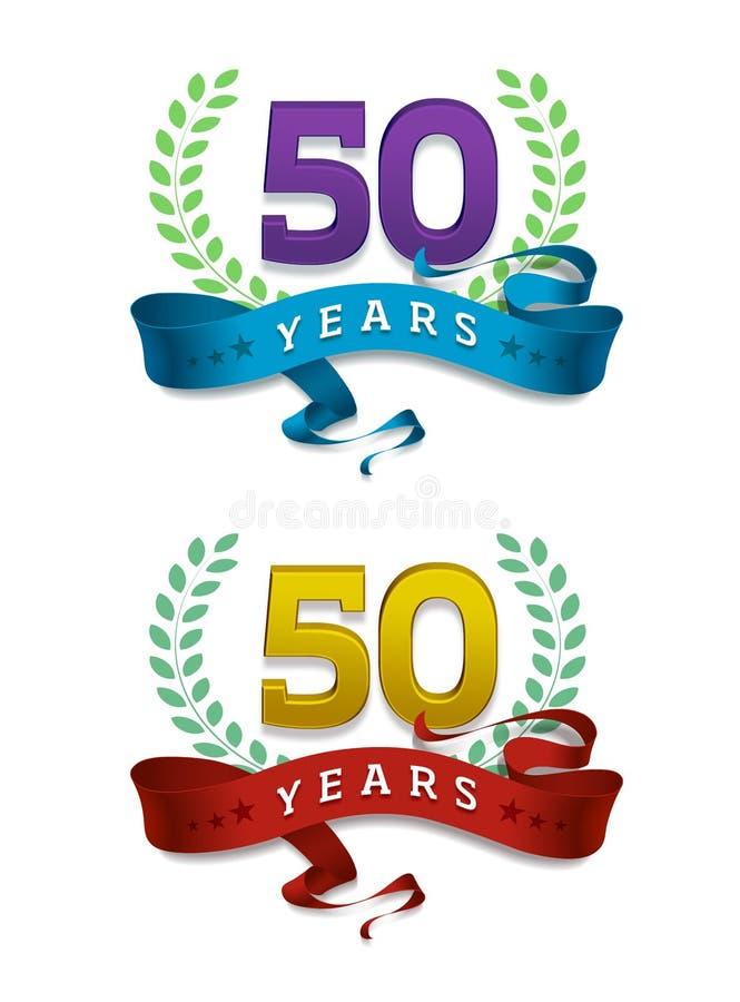 50 Jahre/goldenes Jubiläum lizenzfreie abbildung