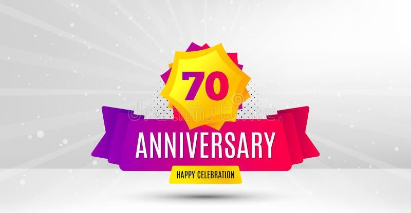 70 Jahre Jahrestag Siebzig Jahre feiernd Vektor vektor abbildung