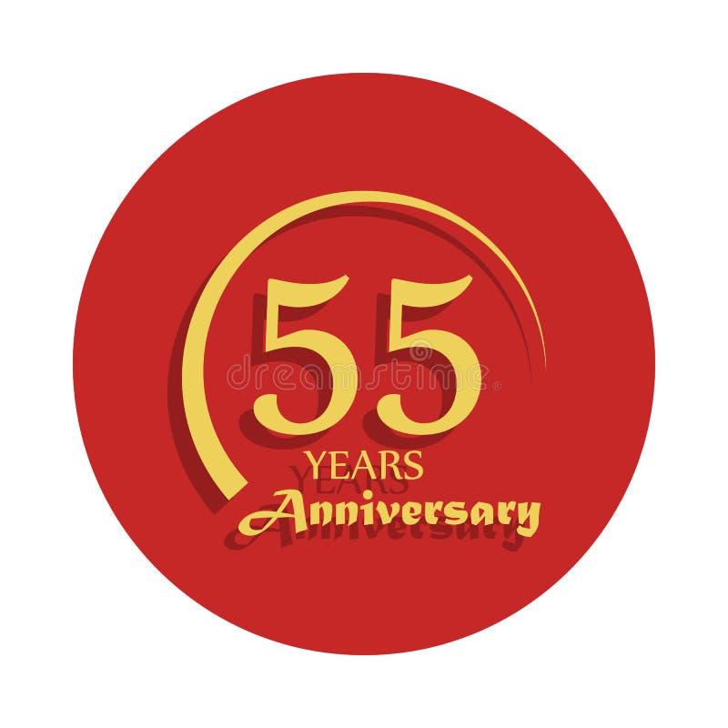 55 Jahre Jahrestagszeichen Element des Jahrestagszeichens Erstklassige Qualitätsgrafikdesignikone in der Ausweisart Ein von Jahre lizenzfreie abbildung