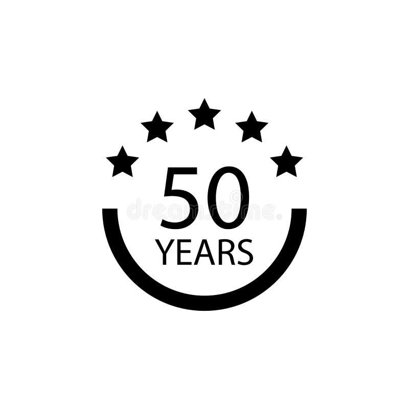50 Jahre Jahrestagszeichen Element des Jahrestagszeichens Erstklassige Qualitätsgrafikdesignikone Zeichen und Symbolsammlungsikon lizenzfreie abbildung