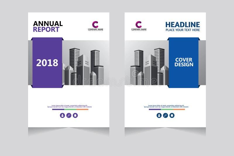 Jahresbericht, Broschüre, Präsentation, Broschüre Vorderseite, Buchabdeckung-Design stockbild