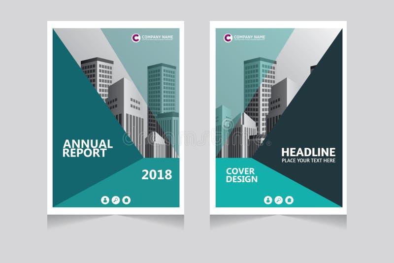 Jahresbericht, Broschüre, Präsentation, Broschüre Vorderseite, Buchabdeckung-Design stockfoto