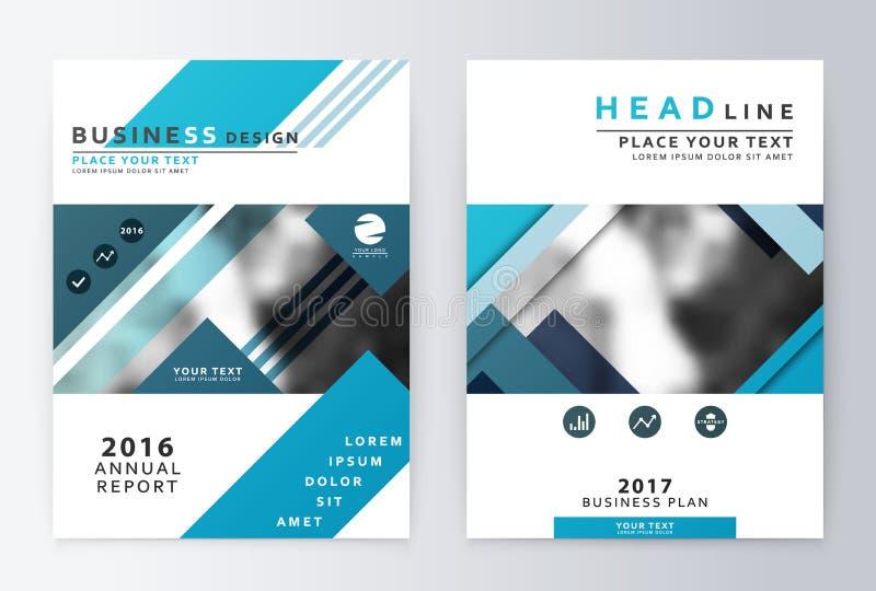 Jahresbericht und Broschüre Broschürenschablonenberichte stockbilder
