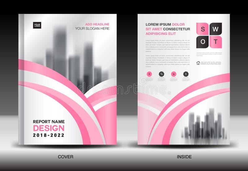 Jahresberichtabdeckungsdesign, Broschürenfliegerschablone, Geschäftsanzeige, Unternehmensprofil lizenzfreie abbildung
