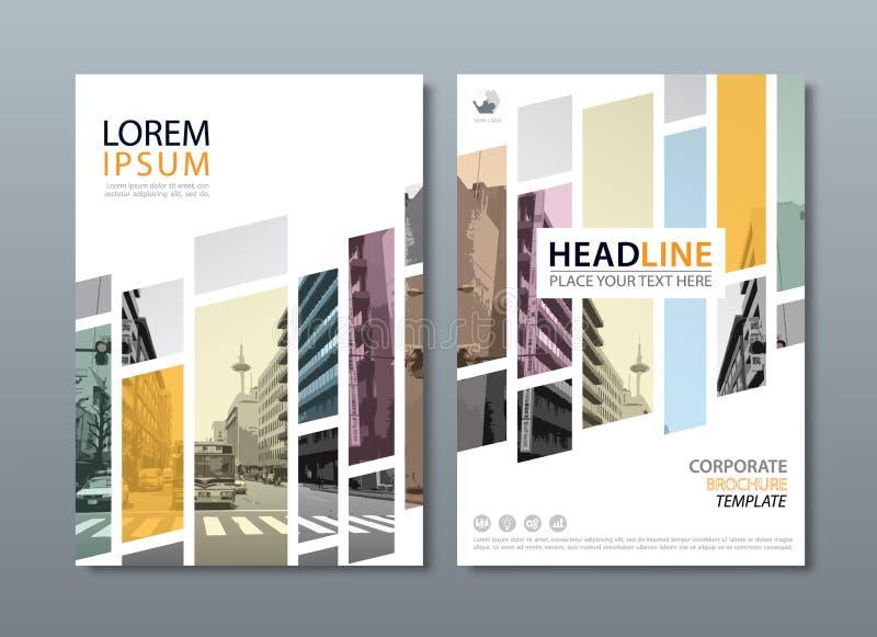 Jahresberichtbroschürenfliegerdesign-Schablonenvektor, Broschüre cov stock abbildung