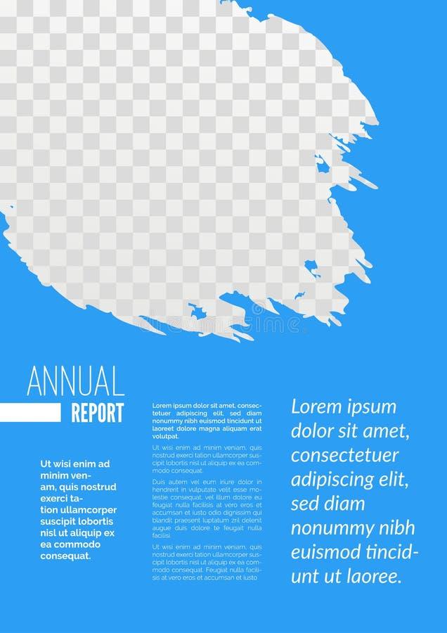 Jahresberichtseitenzusammenfassungs-Designschablone vektor abbildung