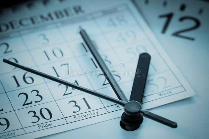 Jahresendetagesordnung stockbilder