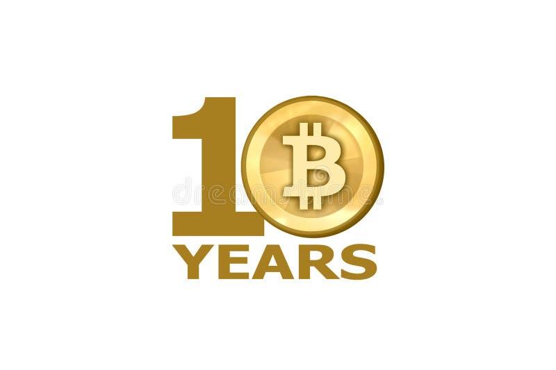 10. Jahrestag Bitcoin stock abbildung