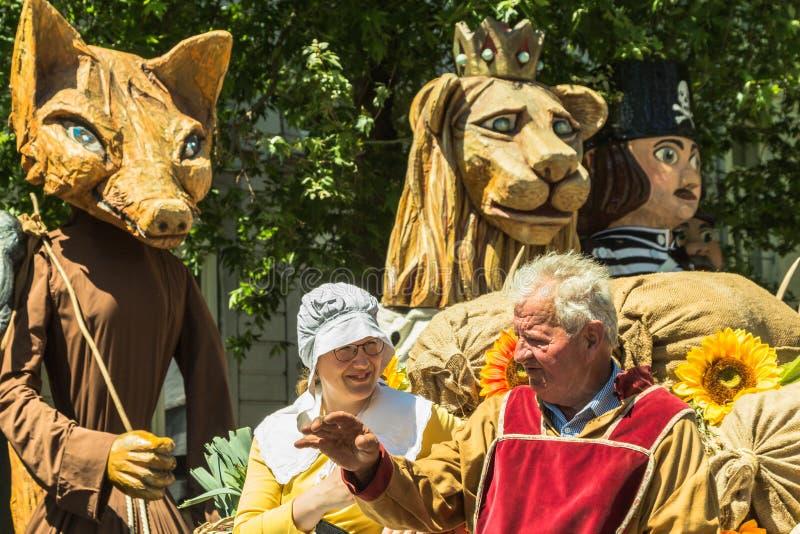 50. Jahrestag des Riesen von Maastricht: Giantius stockfotos
